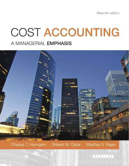Prentice Hall Cost Accounting with MyAccountingLab Code Package: A managerial emphasis (15th Edition) by Horngren, Charles T./ Datar, Srikant at Sears.com
